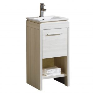 "Modena 16"" Modern Bathroom Vanity White"