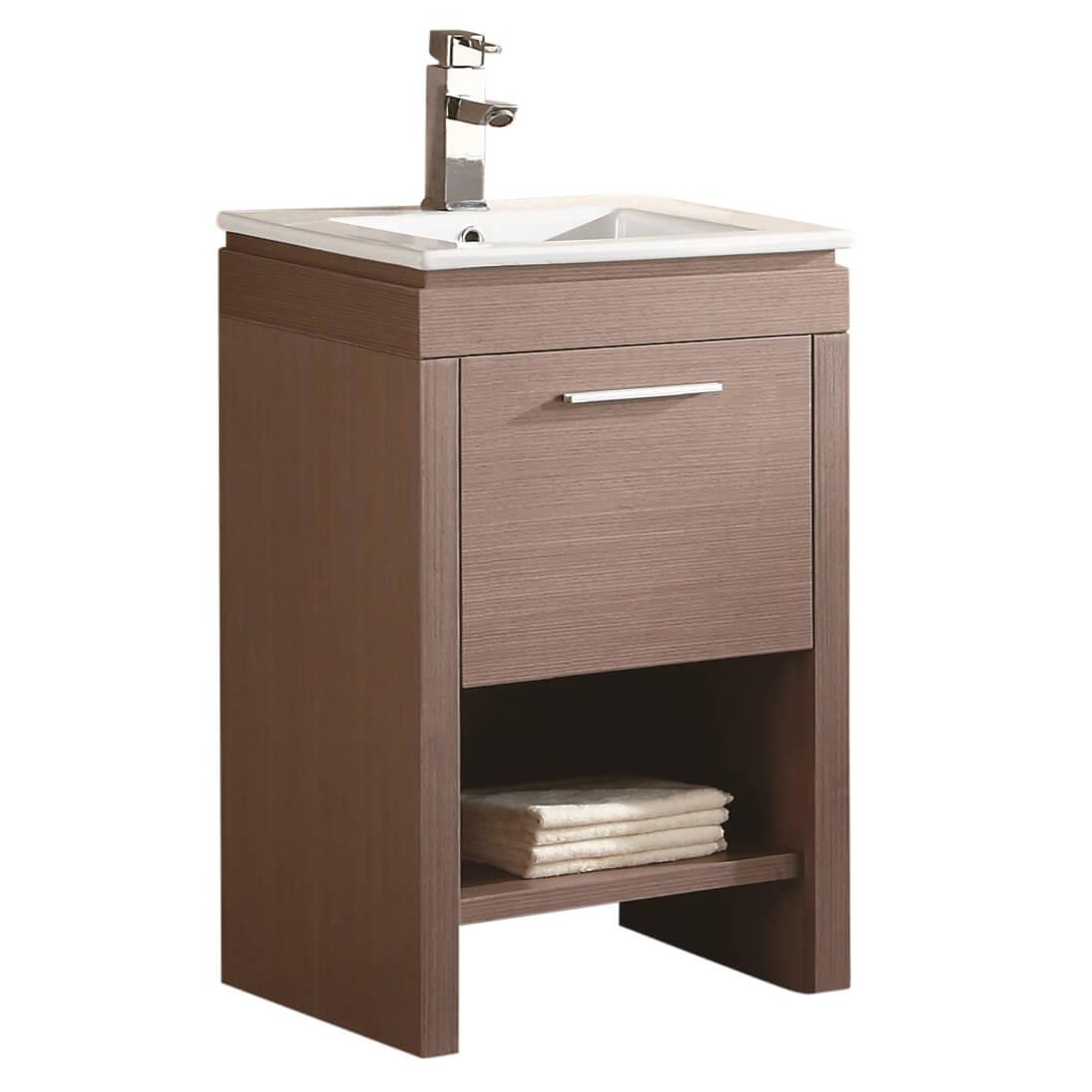 "Modena 24"" Modern Bathroom Vanity  Gray Oak"