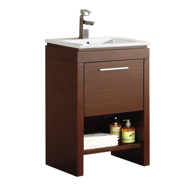 "Modena 24"" Modern Bathroom Vanity Wenge"