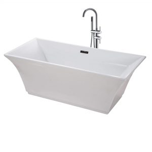 "Sanctuary 67""  Freestanding White Bathtub"