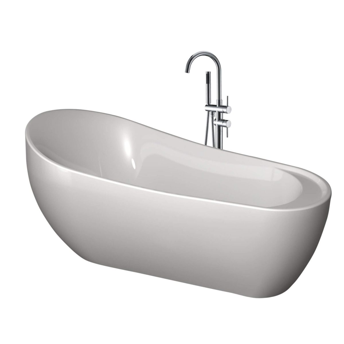 "Serenity 71""  Freestanding White Bathtub"