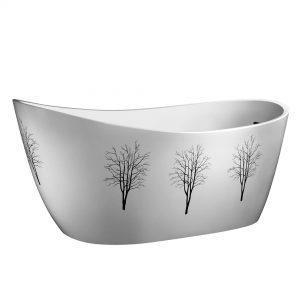 "Storm 69""  Freestanding White Bathtub"
