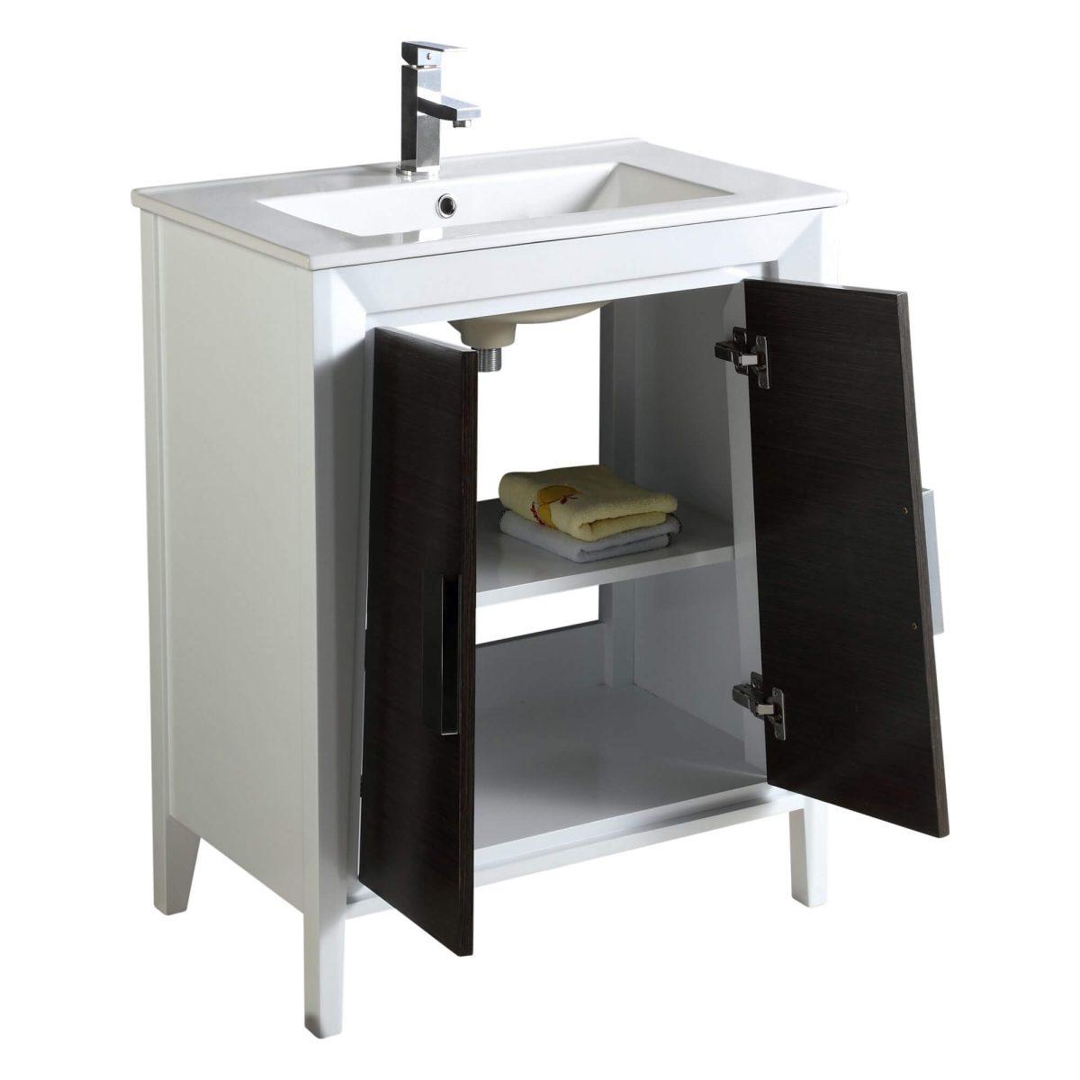 "Imperial II 24"" Modern Bathroom Vanity  Gray and White"