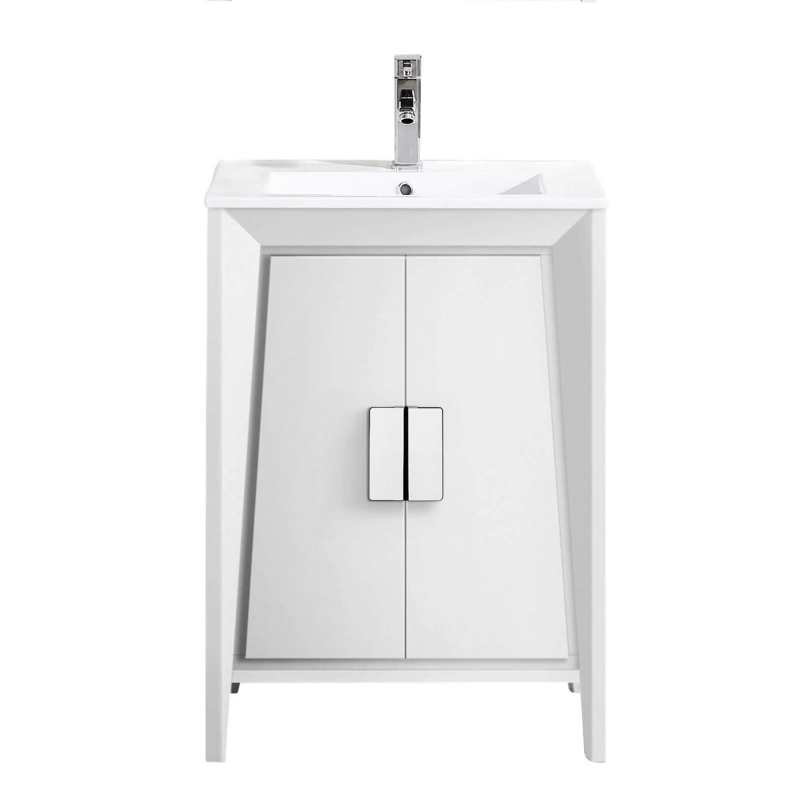 """Imperial II 24"""" Modern Bathroom Vanity  White"""