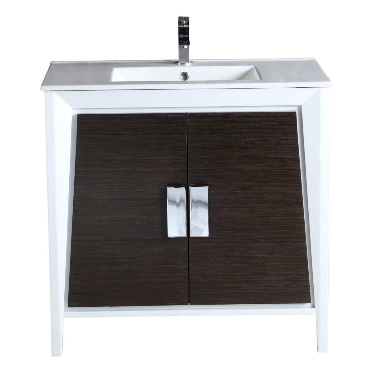 "Imperial II 36"" Modern Bathroom Vanity  Gray and White"