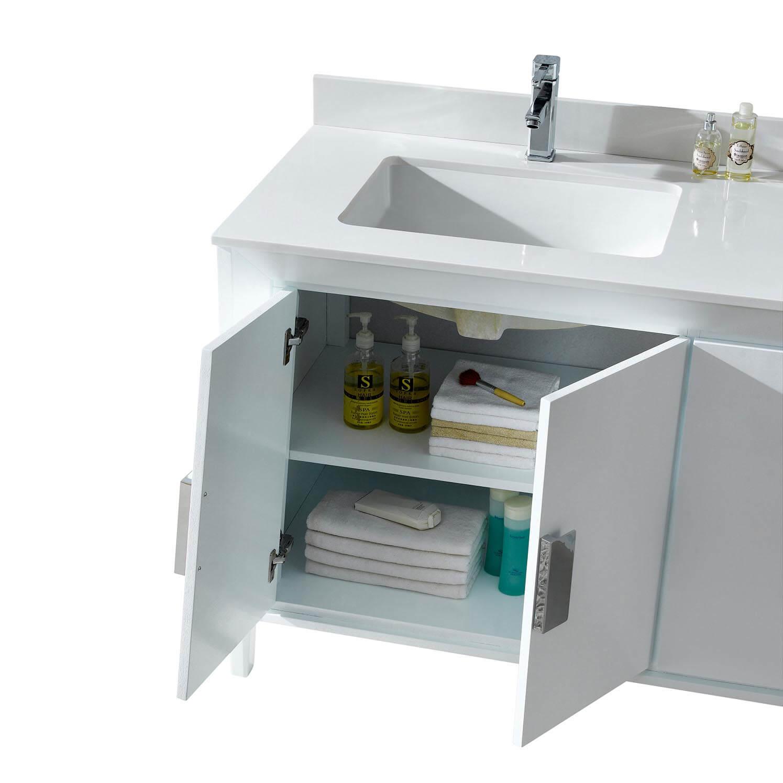 """Imperial II Modern Double Bathroom Vanity 60""""  White"""