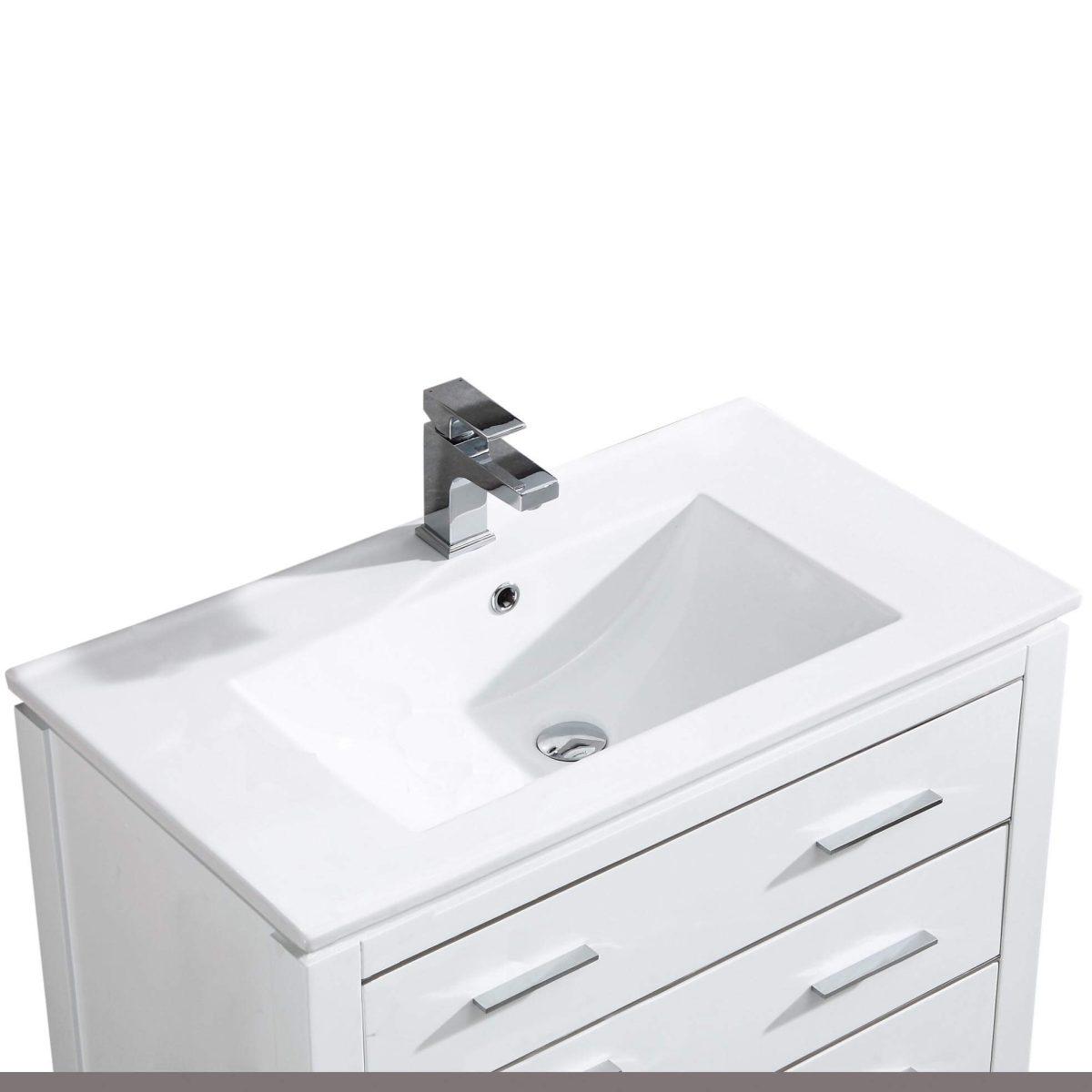 "Ironwood 36"" Modern Bathroom Vanity  White"
