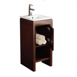 "Modena 16"" Modern Bathroom Vanity Wenge"