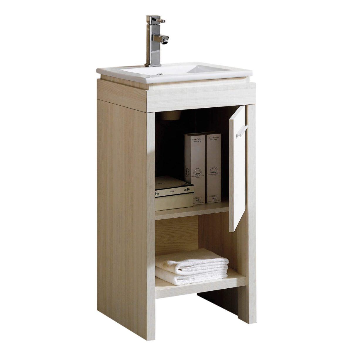 """Modena 16"""" Modern Bathroom Vanity White"""