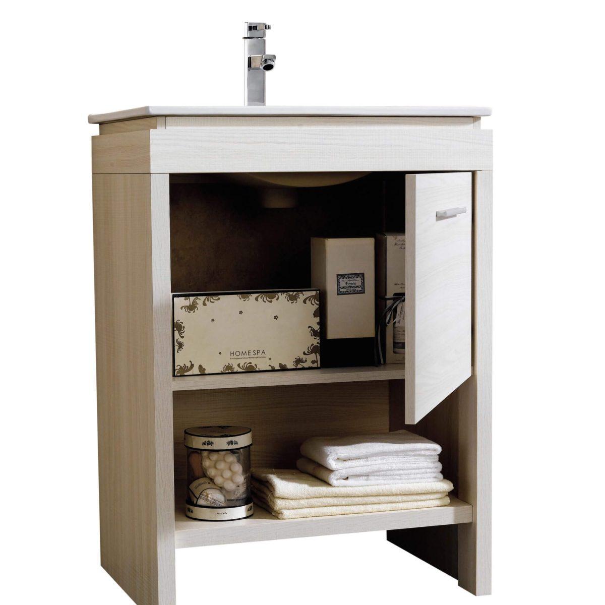 """Modena 24"""" Modern Bathroom Vanity White"""