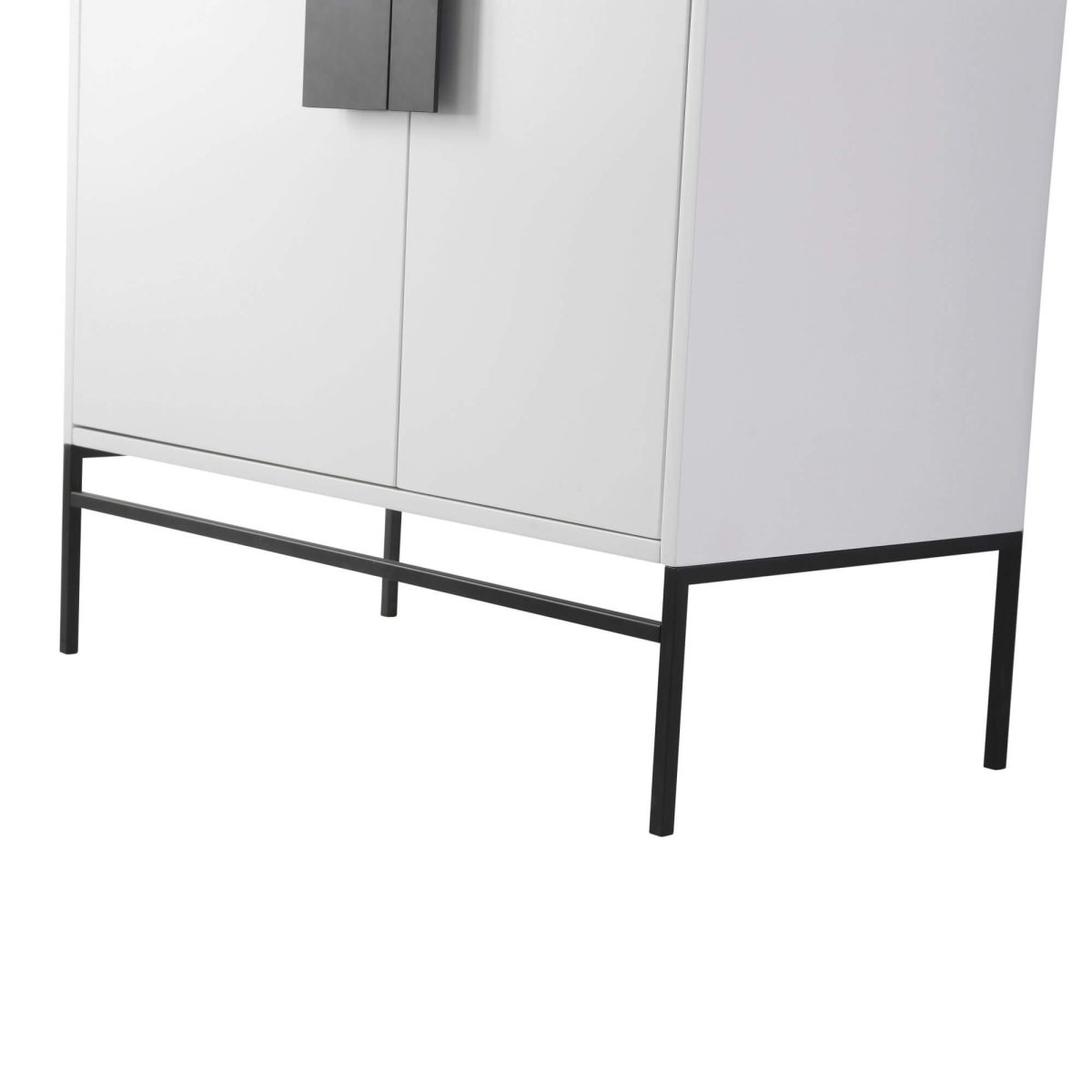 "Shawbridge 36"" Modern Bathroom Vanity  White with Black Hardware"