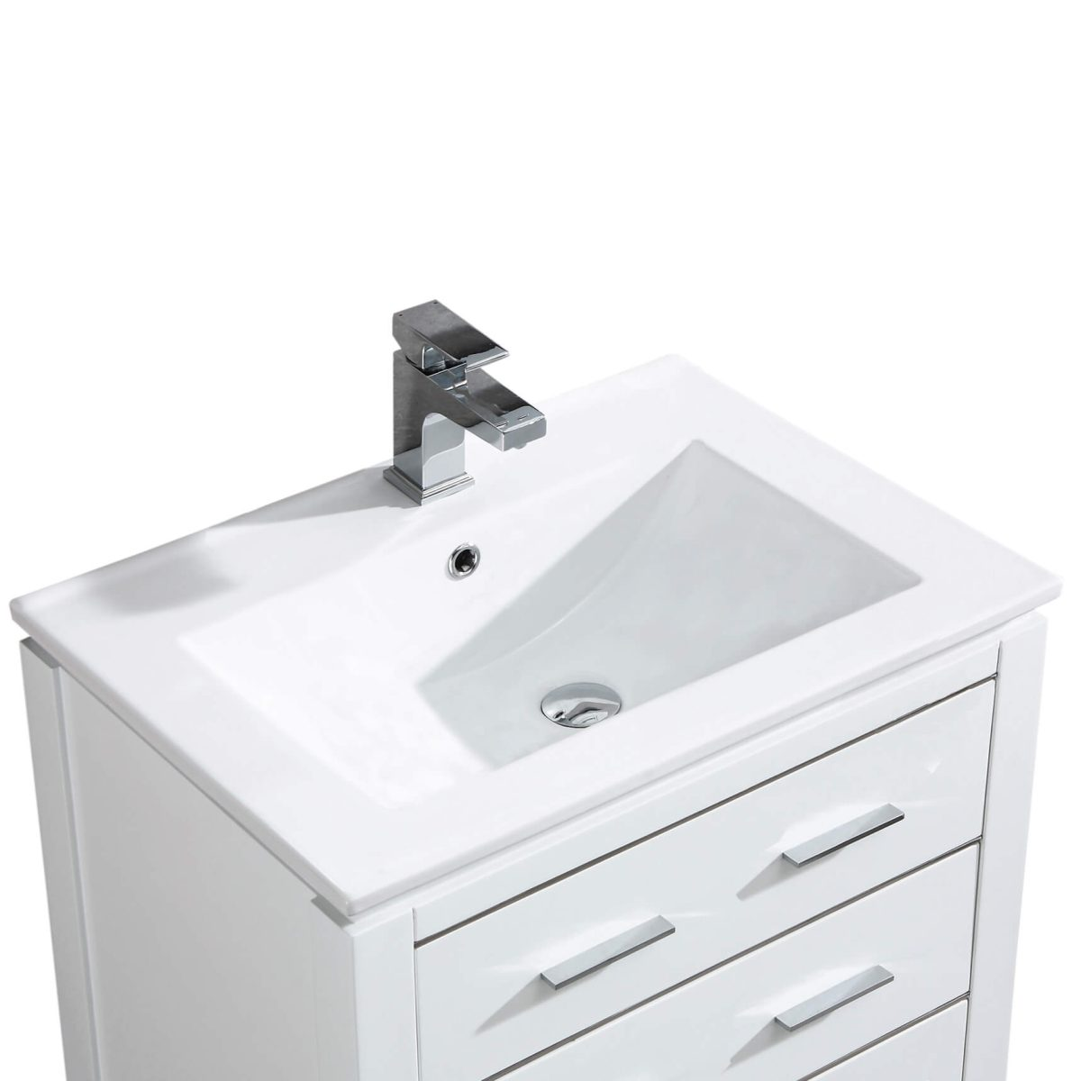 "Ironwood 24"" Modern Bathroom Vanity  White"