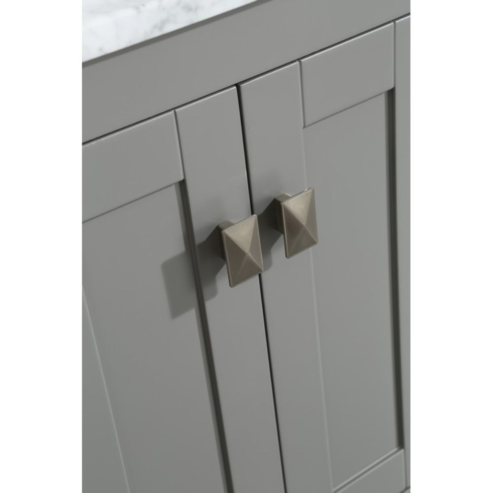 Eviva London 20 In. Transitional Gray Bathroom Vanity with White Carrara Top