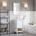 Lucca Modern 20″ Bathroom Vanity Set with Mirror Matte White