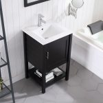 Lucca Modern 20″ Bathroom Vanity Set with Mirror Espresso