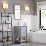 Lucca Modern 20″ Bathroom Vanity Set with Mirror Metal Gray