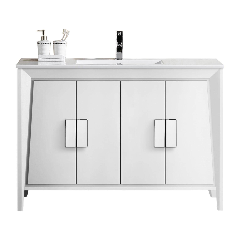 """Imperial II 48"""" Modern Bathroom Vanity  White"""