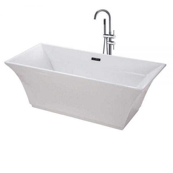 Sanctuary-67-Freestanding-White-Bathtub-BT208WH