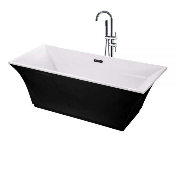 Sanctuary-67-Freestanding-Black-Bathtub-BT208BL