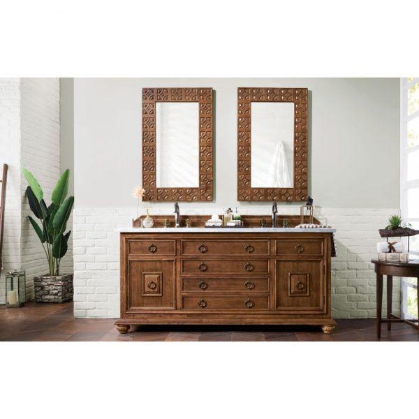James Martin Mykonos 72 Inch Double Vanity Cabinet Cinnamon