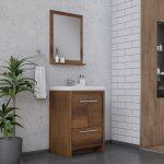 Alya Bath Sortino 24 Inch  Bathroom Vanity, Rosewood 2