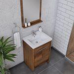 Alya Bath Sortino 24 Inch  Bathroom Vanity, Rosewood 3