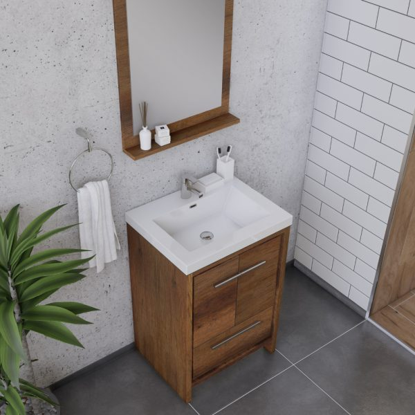 Alya Bath Sortino 24 Inch  Bathroom Vanity, Rosewood