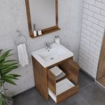 Alya Bath Sortino 24 Inch  Bathroom Vanity, Rosewood 5