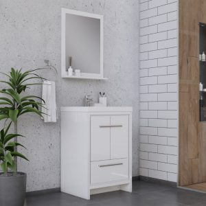 Alya Bath Sortino 24 Inch  Bathroom Vanity, White