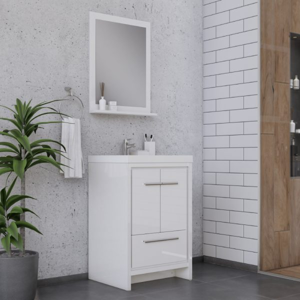 Alya Bath Sortino 24 Inch  Bathroom Vanity, White