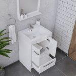 Alya Bath Sortino 24 Inch  Bathroom Vanity, White 5