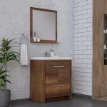 Alya Bath Sortino 30 Inch  Bathroom Vanity, Rosewood 2