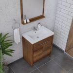 Alya Bath Sortino 30 Inch  Bathroom Vanity, Rosewood 3
