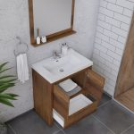 Alya Bath Sortino 30 Inch  Bathroom Vanity, Rosewood 4