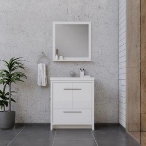 Alya Bath Sortino 30 Inch  Bathroom Vanity, White