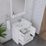 Alya Bath Sortino 30 Inch  Bathroom Vanity, White 5