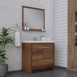 Alya Bath Sortino 36 Inch  Bathroom Vanity, Rosewood 2