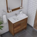 Alya Bath Sortino 36 Inch  Bathroom Vanity, Rosewood 3