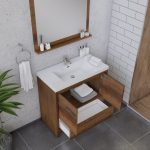 Alya Bath Sortino 36 Inch  Bathroom Vanity, Rosewood 5