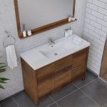 Alya Bath Sortino 48 Inch  Bathroom Vanity, Rosewood 3