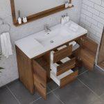 Alya Bath Sortino 48 Inch  Bathroom Vanity, Rosewood 5