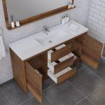 Alya Bath Sortino 60 Inch Single Bathroom Vanity, Rosewood 5