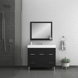 Alya Bath Ripley 39 inch Modern Bathroom Vanity, Black