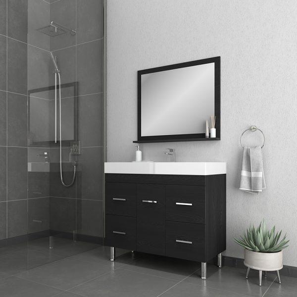 Alya Bath Ripley 39 inch Modern Bathroom Vanity, Black