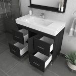 Alya Bath Ripley 39 inch Modern Bathroom Vanity, Black 4