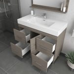 Alya Bath Ripley 39 inch Modern Bathroom Vanity, Gray 4
