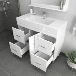 Alya Bath Ripley 39 inch Modern Bathroom Vanity, White 4