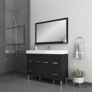 Alya Bath Ripley 48 inch Modern Bathroom Vanity, Black