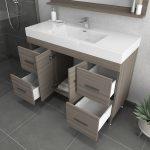 Alya Bath Ripley 48 inch Modern Bathroom Vanity, Gray 4