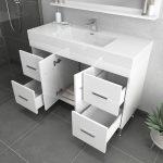 Alya Bath Ripley 48 inch Modern Bathroom Vanity, White 4